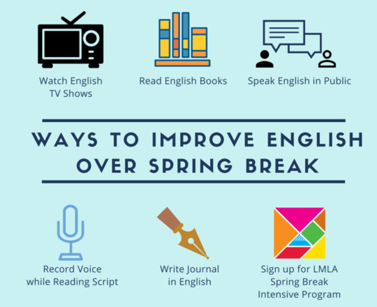 ways to improve English over spring break