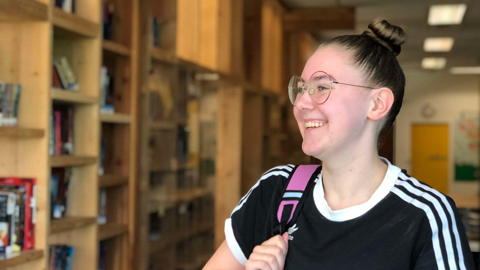 grade 8 -12 English senior student